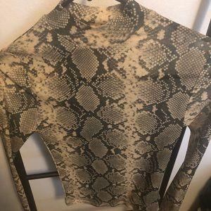 Sheer snake skin shirt